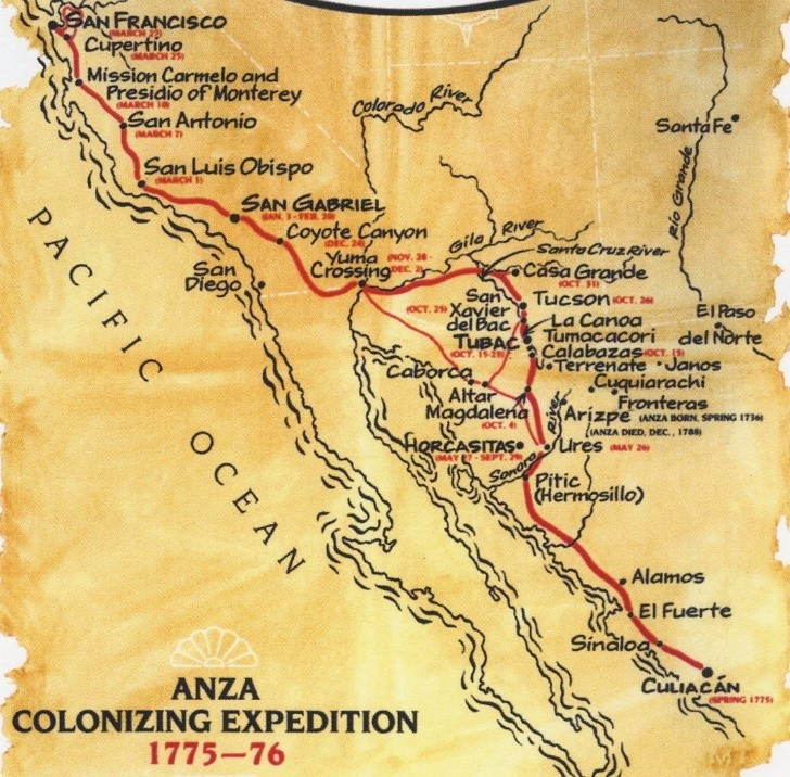 Anza Trail Map