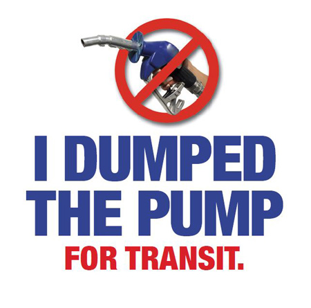American Public Transporation Association Dump the Pump Day