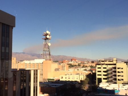 Wildfire Smoke Over Tucson