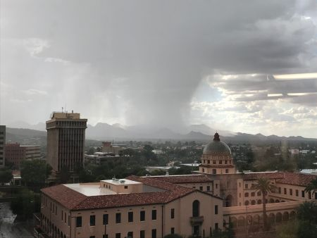 storm cell over Tucson
