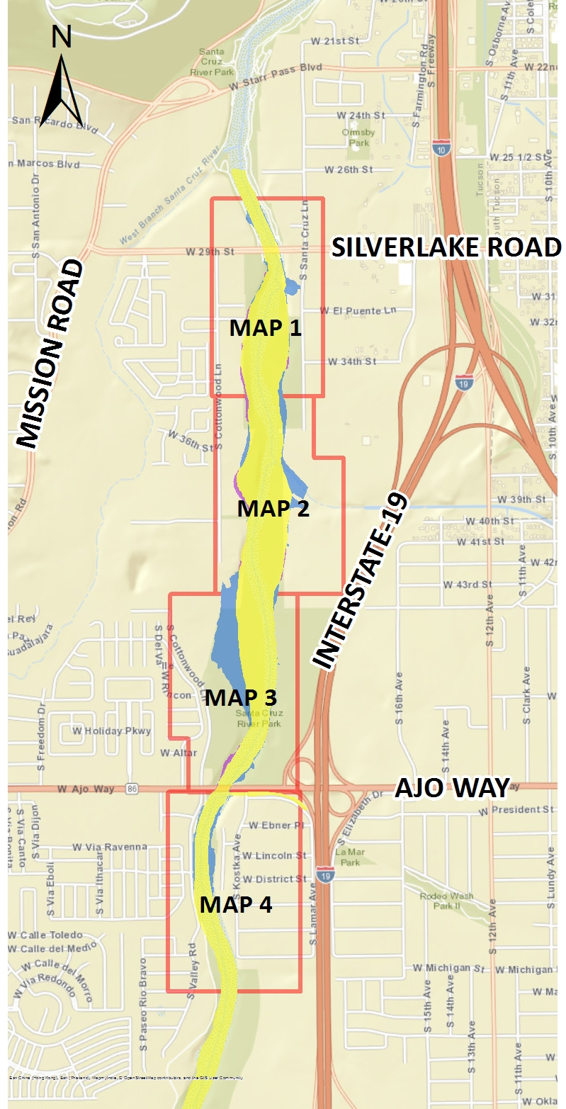 Clickable image to detailed floodway maps
