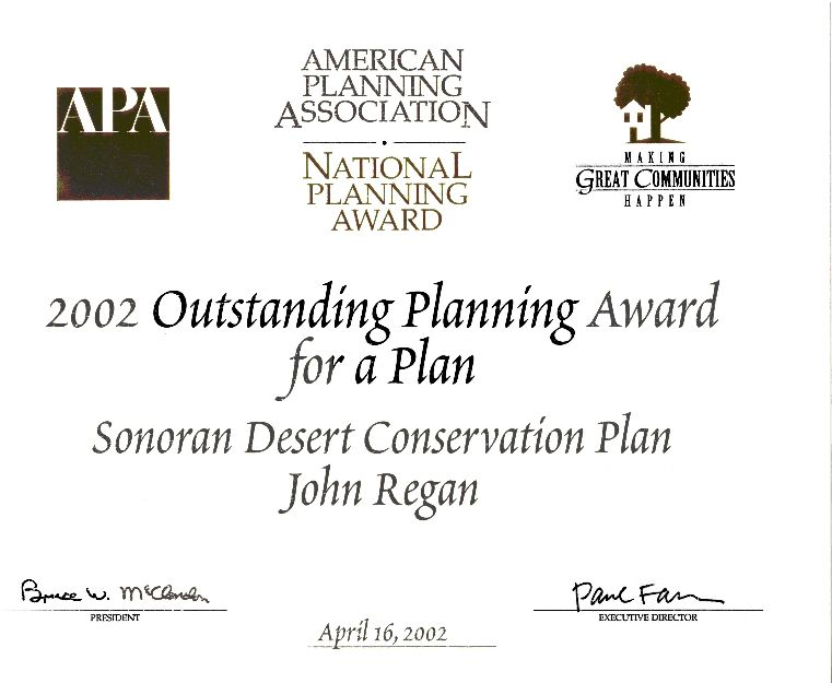 Outstanding Planning Award