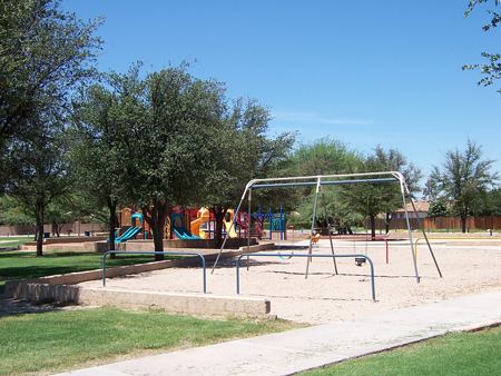swings and play area