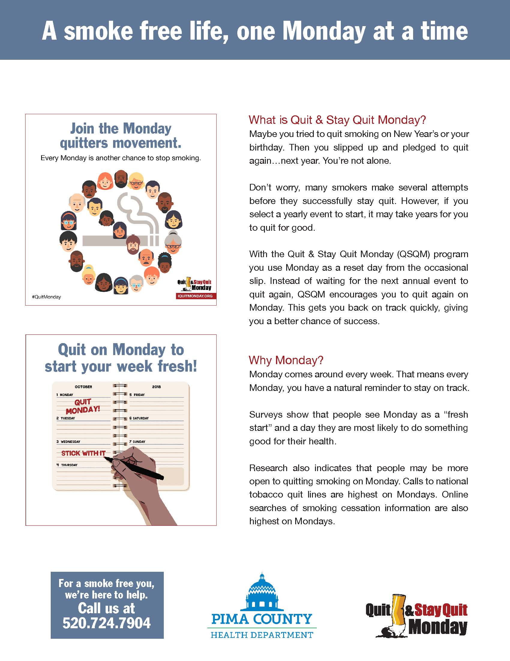 About the quit and stay quit monday strategy