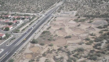 File: rentention basin project under construction at Overton/La Cholla