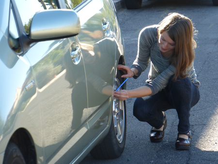 Checking Tire Pressure Saves Money and the Air
