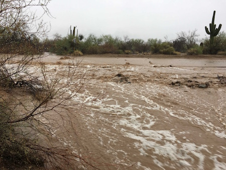 North Ranch Wash on July 10/Photo Credit: Town of Oro Valley